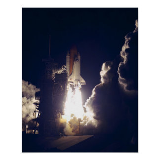Launch of Space Shuttle Atlantis STS-86 Print