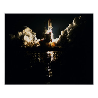 Launch of Space Shuttle Atlantis STS-86 Poster