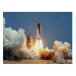 Launch of Space Shuttle Challenger (STS-51B) Posters