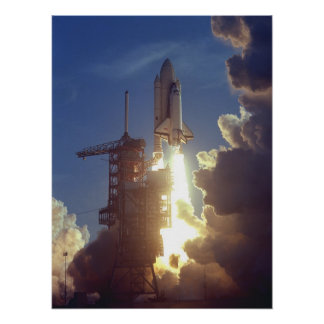 Launch of Space Shuttle Columbia (STS-1) Poster