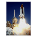 Launch of Space Shuttle Columbia (STS-52) Posters