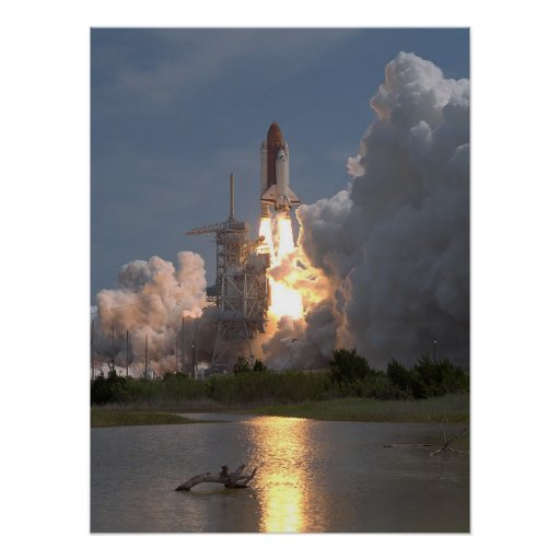 Launch of Space Shuttle Columbia (STS-55) Posters