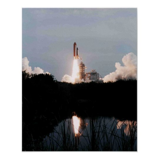 Launch of Space Shuttle Columbia (STS-75) Poster