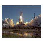 Launch of Space Shuttle Discovery (STS-42) Posters