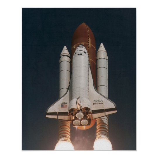 Launch of Space Shuttle Discovery (STS-70) Poster