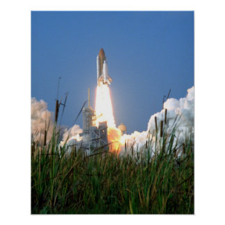 Launch of Space Shuttle Discovery (STS-91) Poster