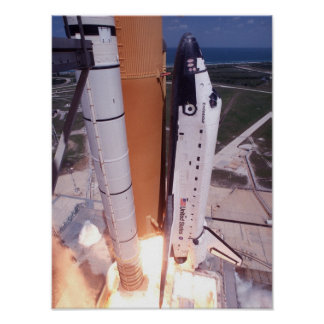 Launch of Space Shuttle Endeavour (STS-100) Print