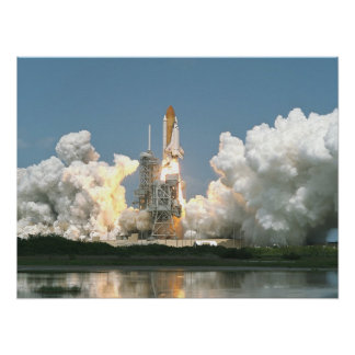 Launch of Space Shuttle Endeavour (STS-100) Poster