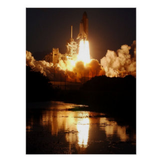 Launch of Space Shuttle Endeavour (STS-108) Poster