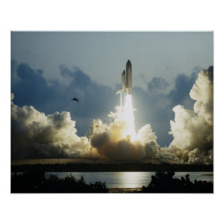 Launch of Space Shuttle Endeavour (STS-49) Poster