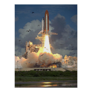 Launch of Space Shuttle Endeavour (STS-57) Print