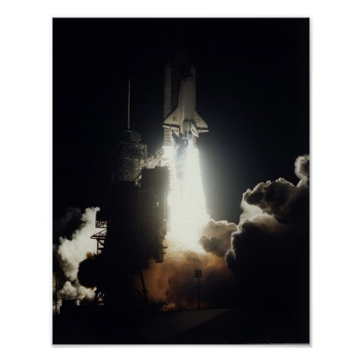 Launch of Space Shuttle Endeavour (STS-67) Poster