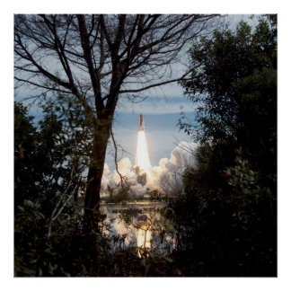 Launch of Space Shuttle Endeavour (STS-69) Poster