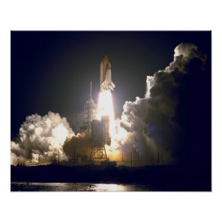 Launch of Space Shuttle Endeavour (STS-88) Poster