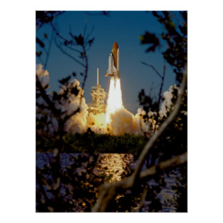Launch of Space Shuttle Endeavour (STS-99) Print