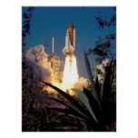 Launch of Space Shuttle Endeavour (STS-99) Posters