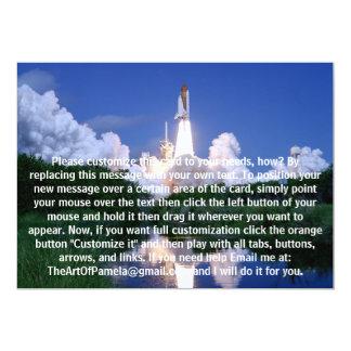 Launch of Space Shuttle Custom Invitations