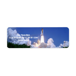 Launch of Space Shuttle Return Address Labels