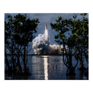 Launch of the Space Shuttle STS-80 Poster