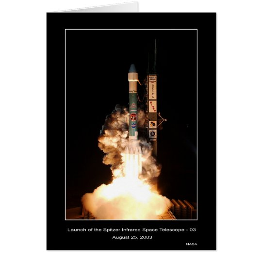 Launch of the Spitzer Infrared Space Telescope-03  Card