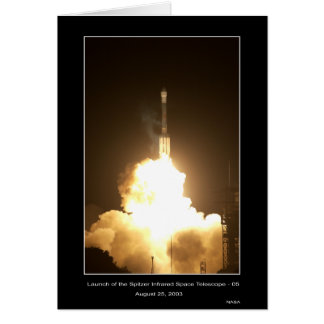 Launch of the Spitzer Infrared Space Telescope-05  Card