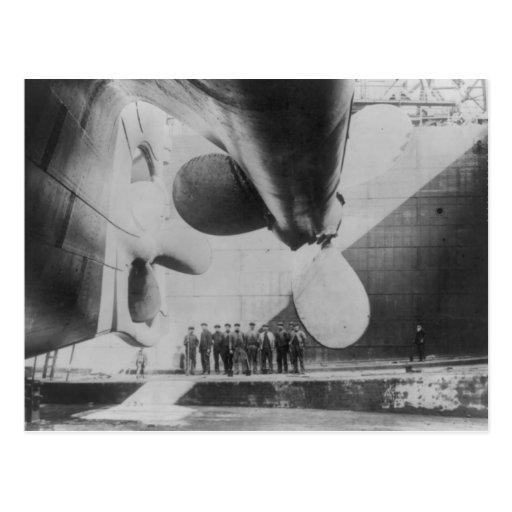 Launch of the Titanic Postcard