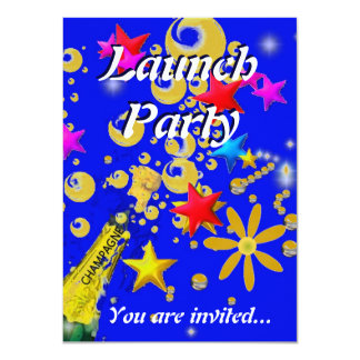 Launch party champagne celebration card