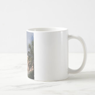 launch with palms coffee mugs