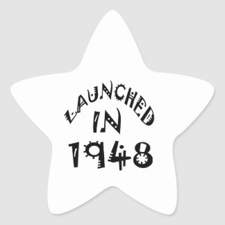 Launched In 1948 Star Sticker