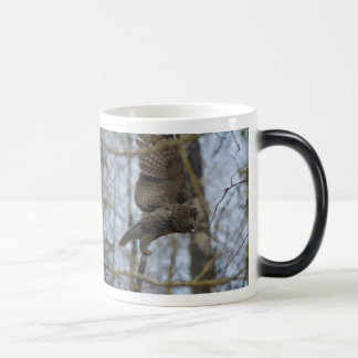 Launching Great Grey Owl & Forest Wildlife Raptor Magic Mug