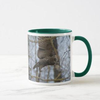Launching Great Grey Owl & Forest Wildlife Raptor Mug