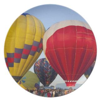 Launching hot air balloons 2 melamine plate