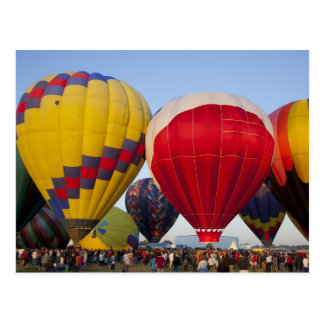 Launching hot air balloons 2 postcard