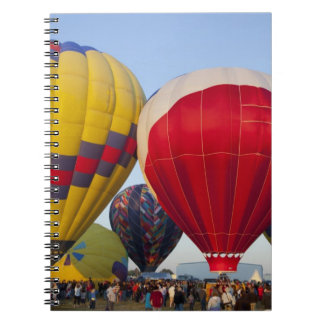 Launching hot air balloons 2 spiral notebook