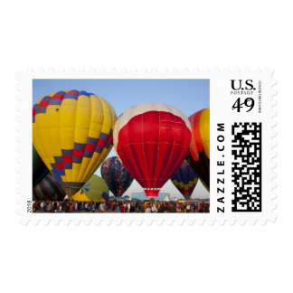 Launching hot air balloons 2 stamp