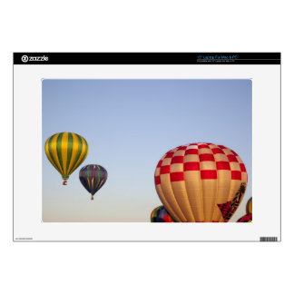 Launching hot air balloons 3 decal for laptop