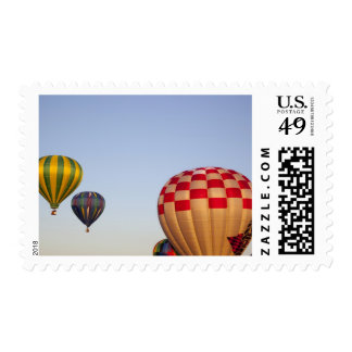 Launching hot air balloons 3 stamp