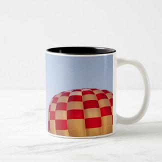 Launching hot air balloons 3 Two-Tone coffee mug