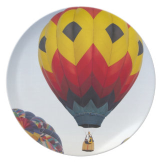 Launching hot air balloons plate