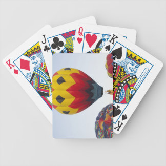 Launching hot air balloons poker cards