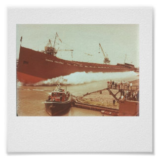 Launching of M/V Edmund Fitzgerald June 1957 Poster