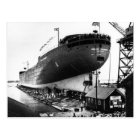 Launching of the Edmund Fitzgerald  6-8-1958 (#1) Postcard