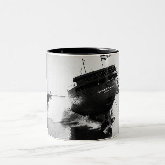 Launching of the Edmund Fitzgerald  6-8-1958 (#2) Two-Tone Coffee Mug