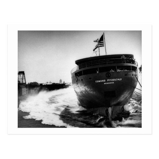 Launching of the Edmund Fitzgerald  6-8-1958 (#3) Post Cards