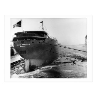 Launching of the Edmund Fitzgerald  6-8-1958 (#4) Postcard