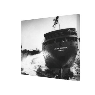 Launching of the Edmund Fitzgerald 6-8-1958 Canvas Print