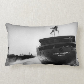 Launching of the Edmund Fitzgerald Vintage Lumbar Pillow