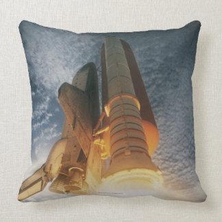 Launching Space Shuttle Throw Pillow