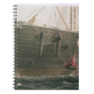 Launching the buoy, August 8th, 1865, marking the Note Books