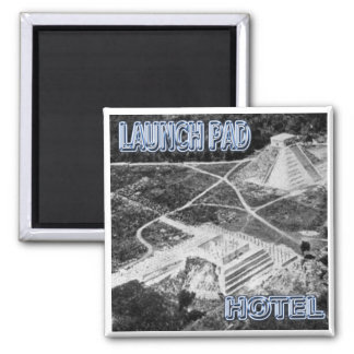 Launchpad and Hotel Refrigerator Magnet